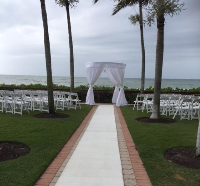 Wedding Structure 8 Foot Round 8 Foot H W Drape Rentals