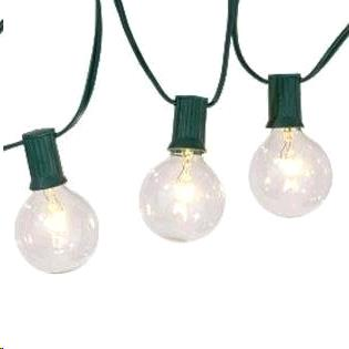 Light String 25 Bulb 25 Foot Grn Led Plastic Rentals