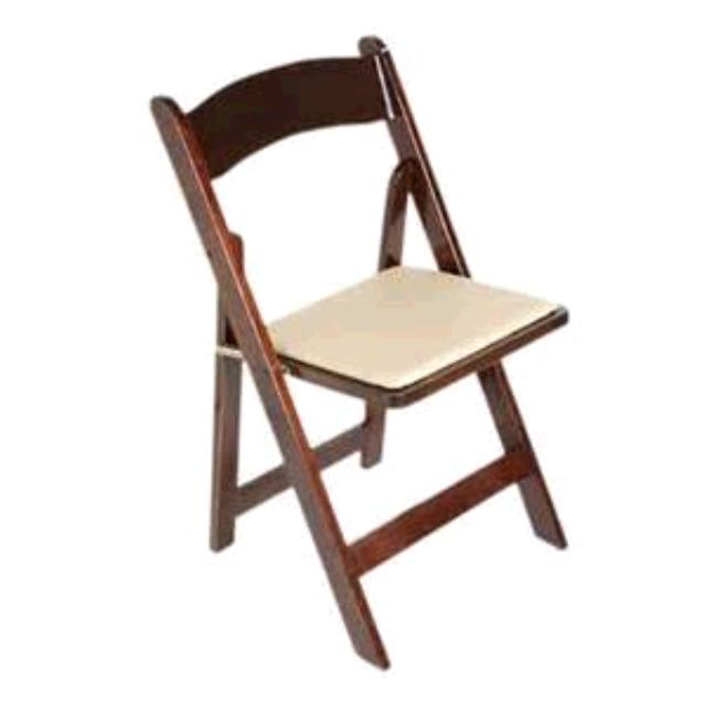 Where to find Chair Wood Brown w pad in Naples