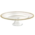Rental store for Gold Bead Cake Stand 13 in Naples FL