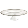 Rental store for Silver Bead Cake Stand 13 in Naples FL