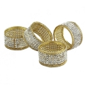 Rental store for Napkin Ring Gold w Crystals in Naples FL