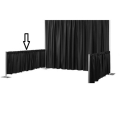 Rental store for Linen Backdrop Black 3 H X 12 W in Naples FL