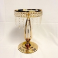 Rental store for Gold Crystal Centerpiece Pedestal Stand in Naples FL