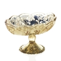 Rental store for Glass Vase Footed Mercury Gold Caraway in Naples FL