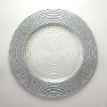 Rental store for Charger Plate 12.5  Silver Glitter Rim in Naples FL