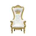 Rental store for Chair Throne White Gold Trim in Naples FL
