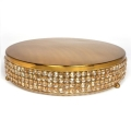 Rental store for Gold Crystal Cake Plateau 14  Round in Naples FL