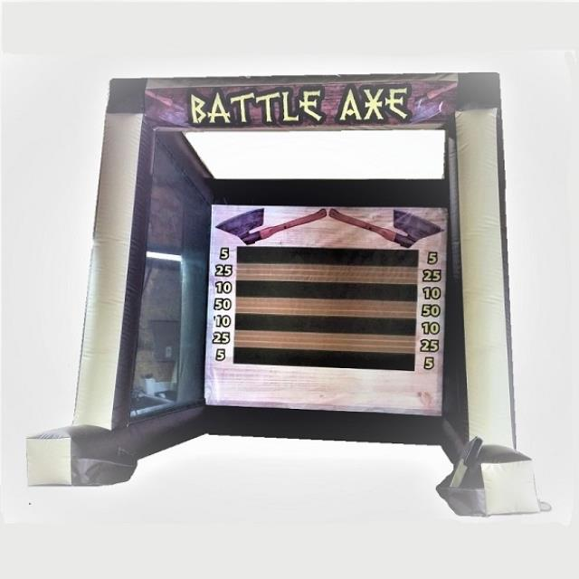 Where to find Inflatable Battle Axe Game Soccer option in Naples