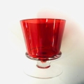 Rental store for Glass Vase Footed Red 5 x4.5 in Naples FL