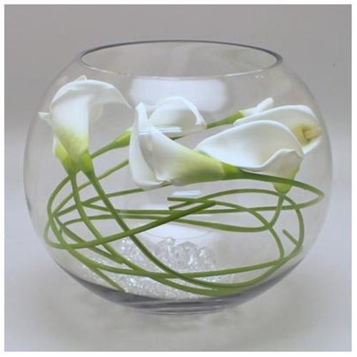 Bowl glass fish for centerpiece rentals naples fl