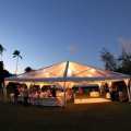 Rental store for Tent 40x40 clear top option  Toptec in Naples FL
