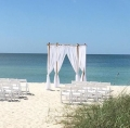 Rental store for Wedd Bamboo Chuppah Gazebo Natural in Naples FL