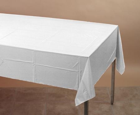 Where to find White Banquet Tablecover in Naples