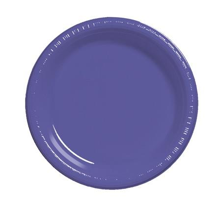 Where to find 7  Purple Plastic Plate in Naples