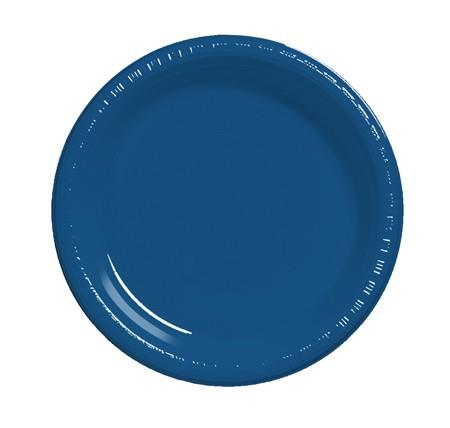 Where to find 7  Navy Blue Plastic Plate in Naples