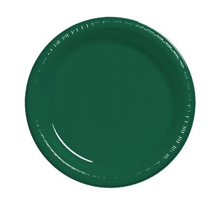 Where to find 10  Hunter Green Plastic Plate in Naples